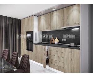 Кухненски комплект Сити 976 - Сонома арвен 320 см. - с цял термоплот