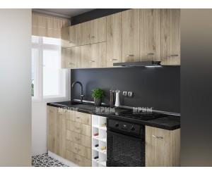 Кухненски комплект Сити 977 - Сонома арвен 242 см. - с цял термоплот