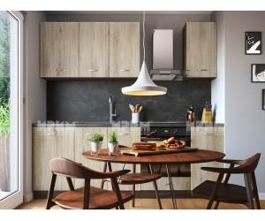 Кухненски комплект Сити 987 - Сонома арвен - 230 см. - с цял термоплот