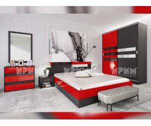 Спален комплект Сити 7050 - с LED RGB осветление