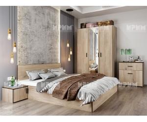 Спален комплект City 7056 - Сонома арвен 629/ Венге