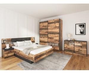 Спален комплект City 7060  Oлд стайл/ Черно шагрен