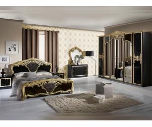 Луксозен спален комплект Eva Nero Gold