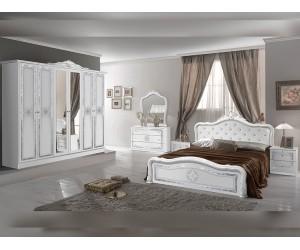 Луксозен спален комплект Luisa Bianco Silver