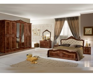 Луксозен спален комплект Luisa Marrone 160/200