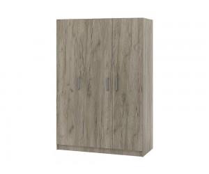 Трикрилен гардероб Топ 3 - 120 см. дъб крафт сиво
