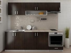 Готова модулна кухня Кети 240 см. с термоплот - Венге/Бяло