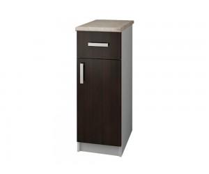 Кухненски долен шкаф с термоплот Кети М13 Венге/Бяло 30 см.