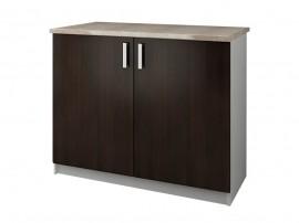 Кухненски долен шкаф с термоплот Кети М14 Венге/Бяло 100 см.