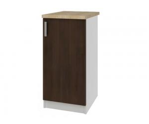 Кухненски долен шкаф с термоплот Кети М21 Венге/Бяло 40 см.