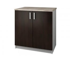 Кухненски долен шкаф с термоплот Кети М4 Венге/Бяло 80 см.