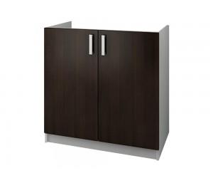 Кухненски долен шкаф Кети М18 за бордова мивка Венге/Бяло 80 см.