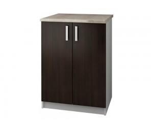 Кухненски долен шкаф с термоплот Кети М9 Венге/Бяло 60 см.