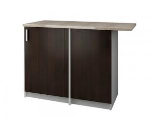 Кухненски долен шкаф с термоплот Кети М18 за ъгъл Венге/Бяло 120 см.