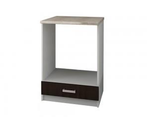 Кухненски долен шкаф с термоплот Кети М12 за вграждане на фурна Венге/Бяло 60 см.