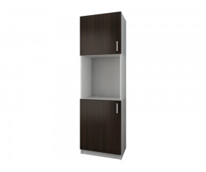 Кухненски колонен шкаф Кети М11 Венге/Бяло 60 см.