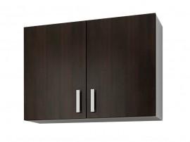 Кухненски горен шкаф с две врати Кети М1 Венге/Бяло 80 см.