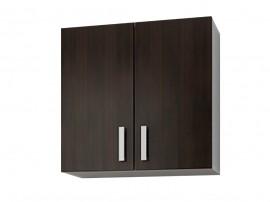 Кухненски горен шкаф с две врати Кети М7 Венге/Бяло 60 см.