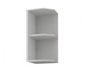 Кухненска горна ъглова етажерка Кети М17 Бяло 30 см.