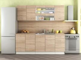 Готова модулна кухня Алис 7 - 200 см. - Дъб сонома / Бяло