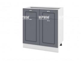 Долен шкаф за кухня Сити БФ-Цимент мат-06-26 МДФ - 80 см.