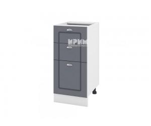 Долен шкаф за кухня Сити БФ-Цимент мат-06-77 - ляв МДФ - 40 см.