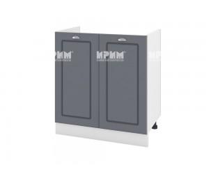 Кухненски долен шкаф за бордова мивка Сити БФ-Цимент мат-06-30 МДФ - 80 см.