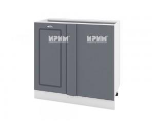 Ъглов долен шкаф за кухня Сити БФ-Цимент мат-06-42 МДФ - 90 см.