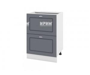 Долен шкаф за кухня Сити БФ-Цимент мат-06-44 МДФ - 60 см.