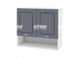 Горен шкаф за кухня Сити БФ-Цимент мат-06-8 МДФ - 80 см,