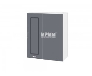 Ъглов горен шкаф за кухня Сити БФ-Цимент мат-06-17 МДФ - 60 см.