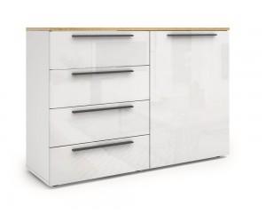 Скрин Kiara M16 - Oak hamilton natur/бял гланц/бяло
