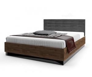 Легло с тапицирана табла Modern 2 M6 - МДФ Черен гланц/Brandy Castello oak - 160/200 см.