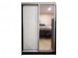 Гардероб Жан - с две плъзгащи се врати и огледало - Венге/ Бяло 120 см.