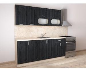 Модулна готова кухня Донна 3 200 см. Грей/Дъб сонома
