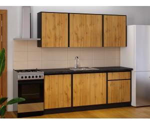 Модулна готова кухня Матина 200 см. Дъб Аплачи/Венге