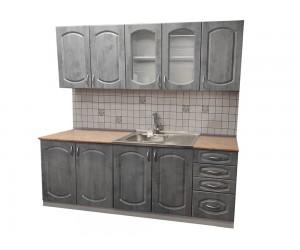 Модулна готова кухня Олга МДФ - 200 см. - бетон
