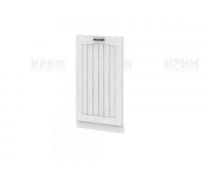 Врата за вградена съдомиялна Сити БФ-Бяло фладер-04-38 МДФ - 45 см.