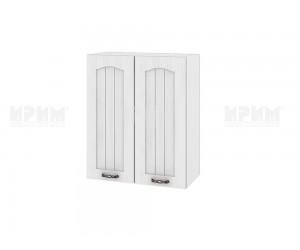Горен шкаф за кухня Сити БФ-Бяло фладер-04-3 МДФ - 60 см.