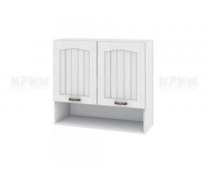 Горен шкаф за кухня Сити БФ-Бяло фладер-04-8 МДФ - 80 см.