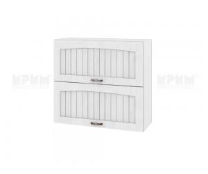 Горен шкаф за кухня Сити БФ-Бяло фладер-04-12 МДФ - 80 см.