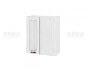 Ъглов горен шкаф за кухня Сити БФ-Бяло фладер-04-17 десен МДФ - 60 см.