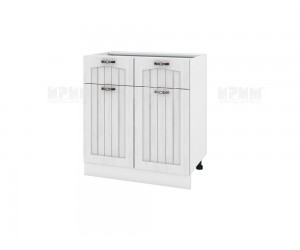 Долен шкаф за кухня Сити БФ-Бяло фладер-04-26 МДФ - 80 см.