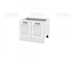 Кухненски долен шкаф за печка тип Раховец Сити БФ-Бяло фладер-04-32 МДФ - 60 см.
