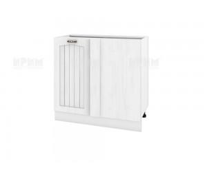 Долен кухненски шкаф за ъгъл Сити БФ-Бяло фладер-04-42 десен МДФ - 90 см.