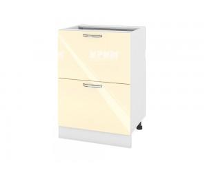 Долен шкаф за кухня Сити БФ-Бежово гланц-05-44 МДФ - 60 см.