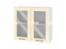 Горен шкаф за кухня Сити БФ-Бежово гланц-05-204 МДФ - 80 см.