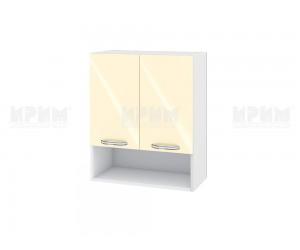 Горен шкаф за кухня Сити БФ-Бежово гланц-05-7 МДФ - 60 см.