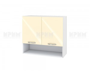 Горен шкаф за кухня Сити БФ-Бежово гланц-05-8 МДФ - 80 см.