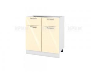 Долен шкаф за кухня Сити БФ-Бежово гланц-05-26 МДФ - 80 см.
